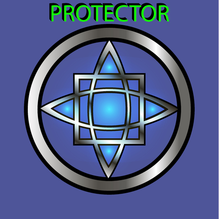 Vector sign-protection. On the theme of white magic, occultism, alchemy, mysticism, esoterics, religion. Can be used for a tattoo or t-shirt design
