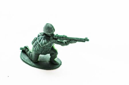 Dusty plastic toy soldier