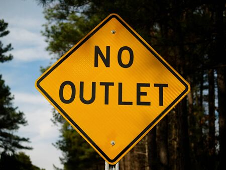A No Outlet sign 写真素材