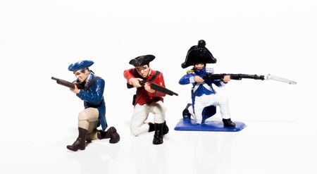 Toy British, American, and French troops