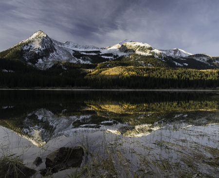 lost lake: East and West Beckwith Mountain in Autumn