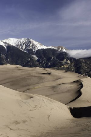 Great Sand Dunes National Park in Southern Colorado. Stock Photo
