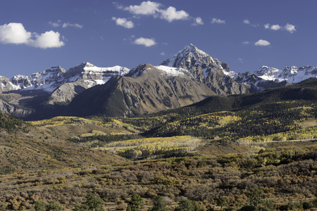 uncompahgre national forest: Mount Sneffels Mountain Range located in Southwestern Colorado.