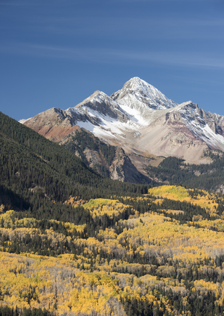 gold capped: Wilson Peak in Southwestern Colorado