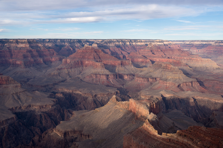 View of Grand Canyon National Park from the rim above the Colorado River.
