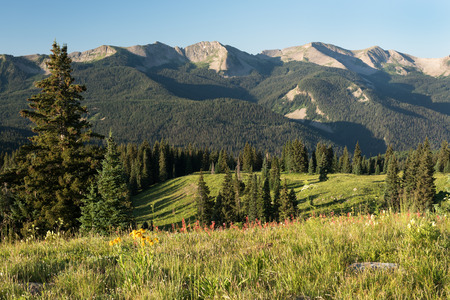 Ohio Peak within the Anthracite Mountain Range within the Gunnison National Forest west of Crested Butte Colorado.