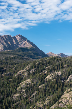 Eagles Nest Peak 13,091 and Mount Powell 13,560 are part of the Gore Mountain Range in Colorado Stock fotó