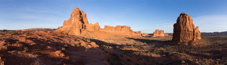 These Monoliths make a dramatic stand in the early morning Utah sunrise at Arches National Park