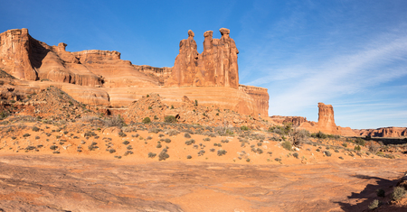 The Three Gossips located within Arches National Park Utah