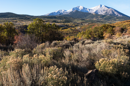 Mount Sopris 12,965 is located within the White River National Forest.  Mount Sopris is part of Maroon Bell - Snowmass Wilderness in southwestern Colorado.