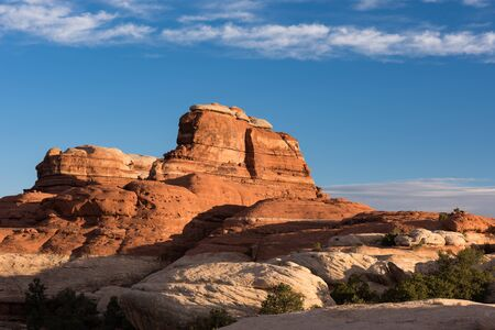 Sunrise in red rock country of the Needles District of Canyonlands National Park located in south central Utah.