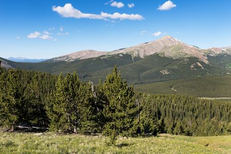 Mount Silverheels which is 13,776 feet rises above South Park Colorado.