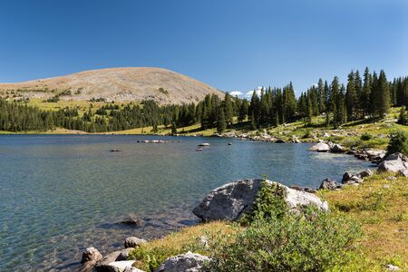 Lyle Lake is a high alpine lake which is 11,369 feet. Located within the White River National Forest, Colorado.