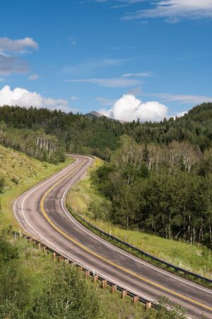 West Elk Loop Scenic Byway, Colorado 133 on McClure Pass 8,755 feet. Located in Gunnison National Forest.