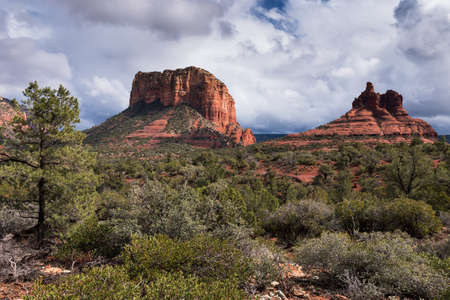 Courthouse Butte and Bell Rock are within the Coconino National Forest, Arizona.