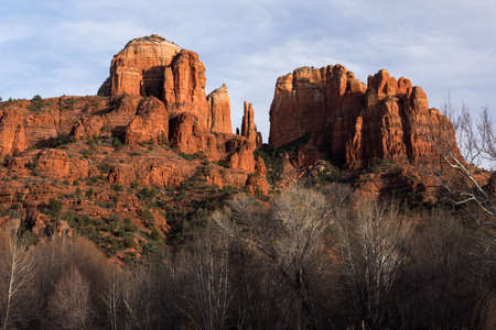 Cathedral Rock viewed from Red Rock State Park Arizona.
