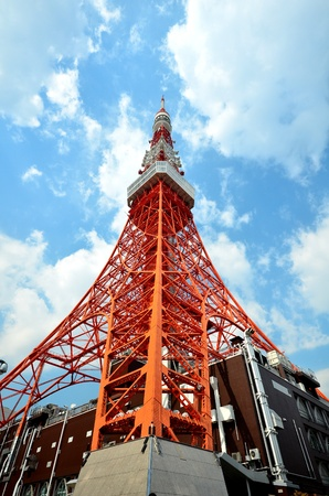 Tokyo Tower cloud blue sky Stock Photo - 12996508