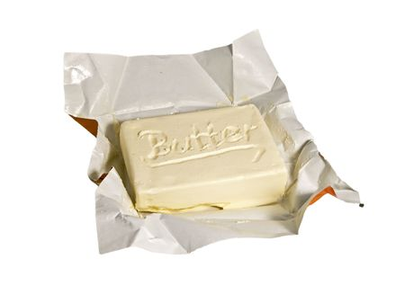 A piece of butter Stock Photo