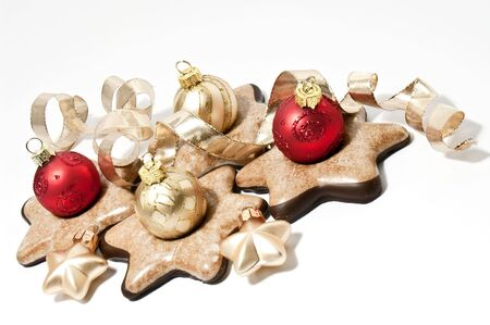 Gingerbread cookies and christmas tree balls Stock Photo - 5959334