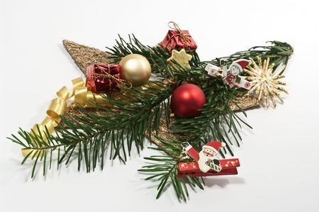 fir twig: Decoration for christmas with a fir twig Stock Photo