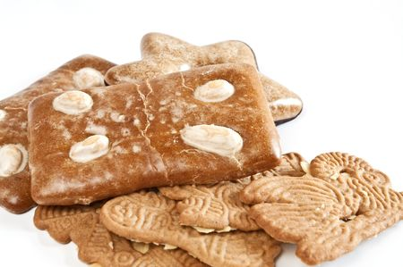 Gingerbread cookies and almon biscuit Stock Photo - 5976533