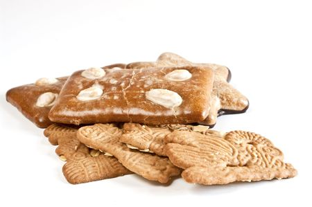 Gingerbread cookies and almond biscuits Stock Photo - 5976515
