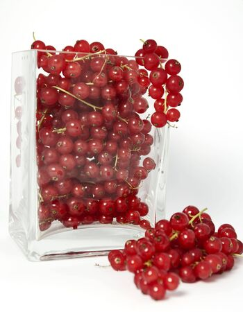 Red currants in a glas