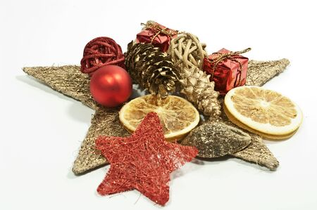 Christmas decoration in gold and red