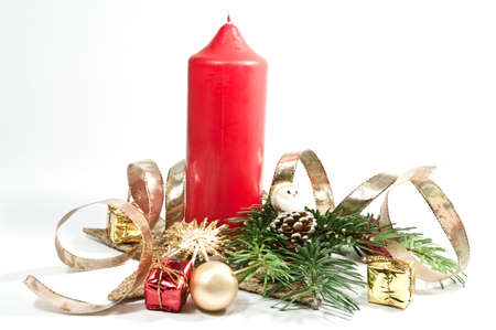 Decoration for christmas with a candle