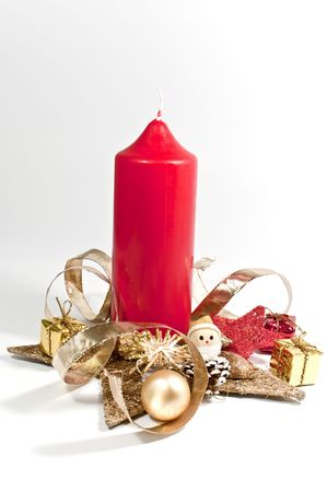 Christmas decoration with a candle