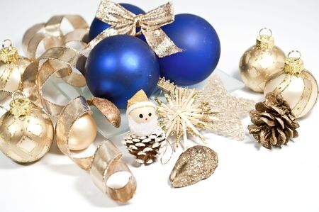 kugel: Decoration in blue and gold