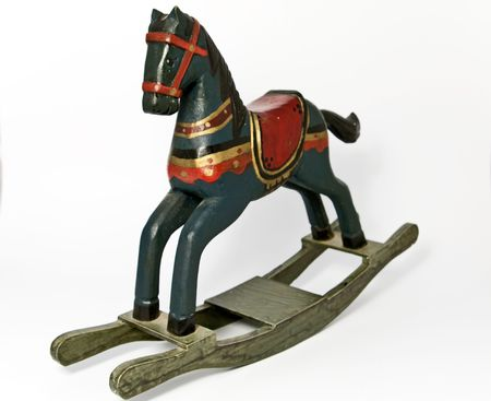 rocking horse: old-fashioned rocking horse