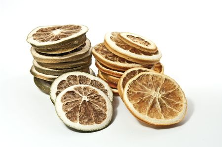 Dried citrus fruits Stock Photo