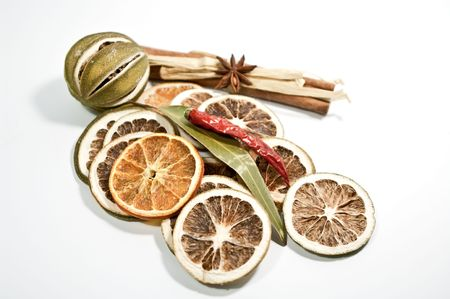 Dried citrus fruits photo
