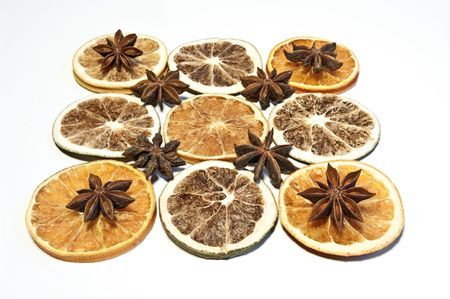 Pattern with dried fruits photo