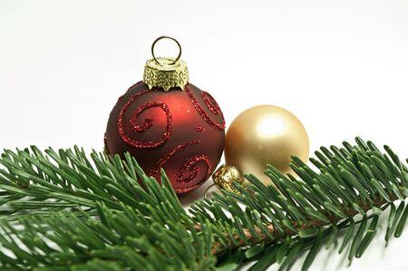 Christmas tree balls photo