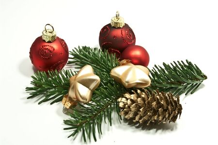 Christmas decoration with fir twig photo