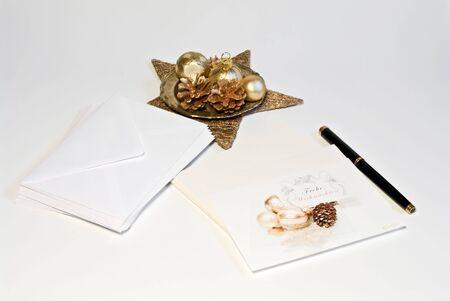 correspondencia: Correspondencia de Navidad  Foto de archivo