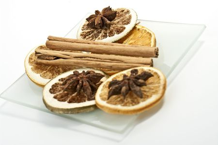 Dried fruits and spice photo