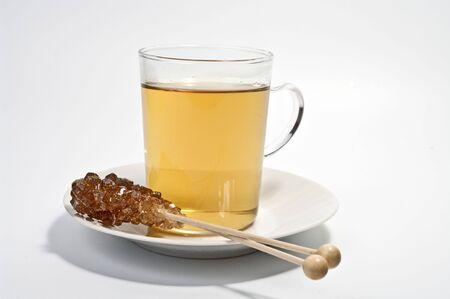 german chamomile: Chamomile tea and rock candy