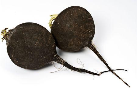 Two black radish