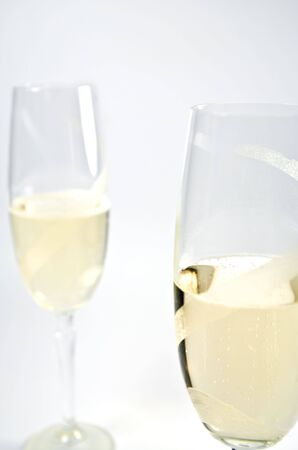 Two glasses with sparkling wine Stock Photo - 6693970