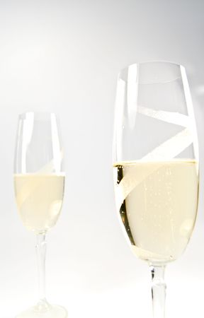 Glasses with sparkling wine Stock Photo - 6901345