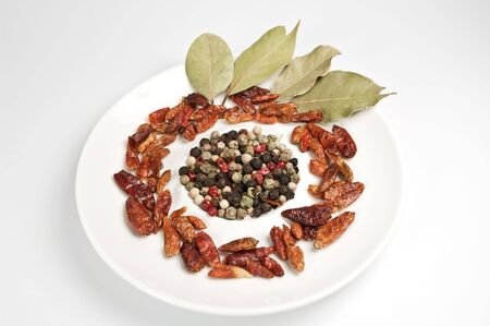spicery: Spicery in white dish Stock Photo