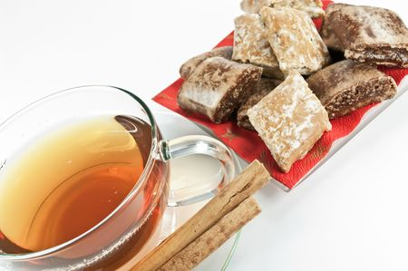 Tea and gingerbread photo