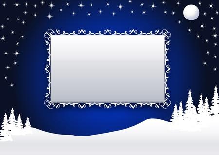 Winter night Vector