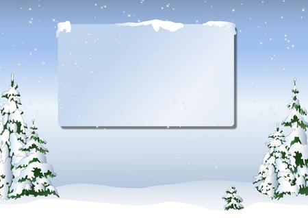 snowy: Christmas card in light blue