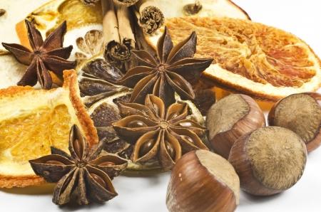 frutos secos: Navidad especias