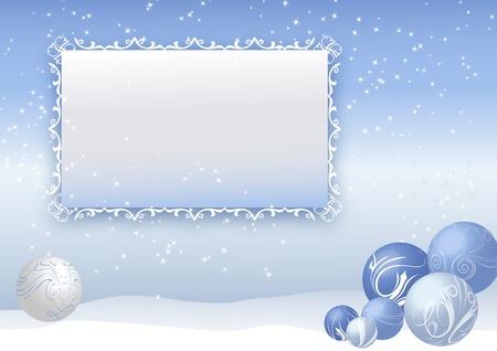 Blue christmas tree balls Vector