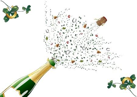 Pop the corks Illustration